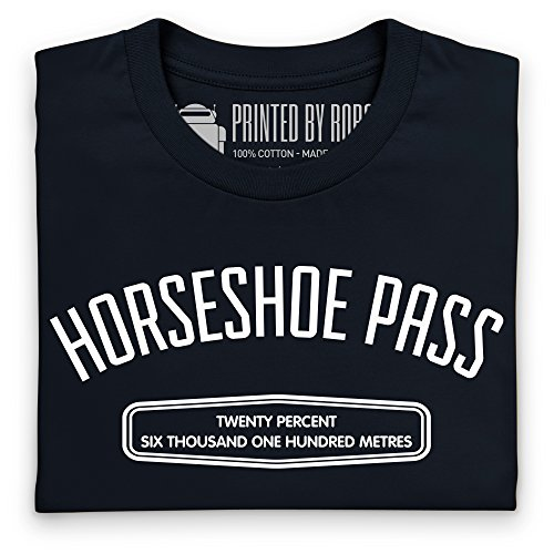 Cycling - Horseshoe Pass T-Shirt, Damen Schwarz