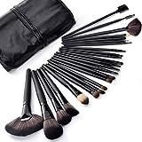 24 Set Pinceaux Maquillage Professionnel Pochette de Voyage Haut de Gamme