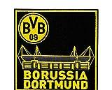 BVB Aufnäher Stadion, Polyester, Schwarz / Gelb, 9 x 9 x 1 cm