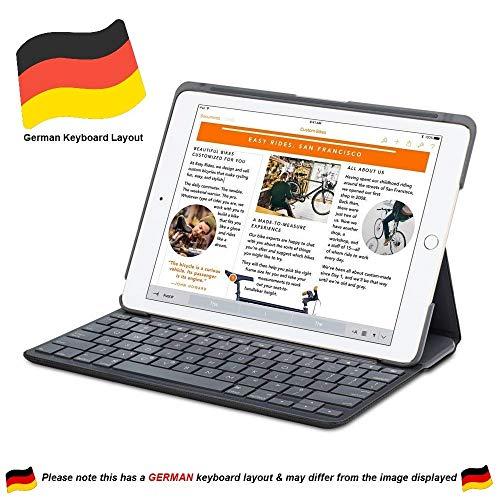 Logitech Canvas Folio Schutzhülle mit integrierter deutscher Tastatur für iPad mini 1/2/3 (Nicht 4),Schwarz