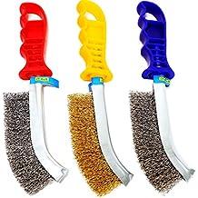 S R Juego de cepillos metálicos de 3 piezas  1 Cepillo de Acero Inox 65a74eb390ce