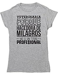 HippoWarehouse Veterinaria Porque Hacedora de Milagros No Es Un Título Profesional camiseta manga corta ajustada para