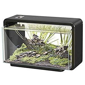 SuperFish Home 25 Litre Aquarium (Black) – Including LED Lights and Internal Filter