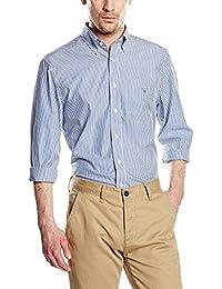 Gant The Poplin Banker Stripe Ls Bd - Chemise de loisirs - Homme