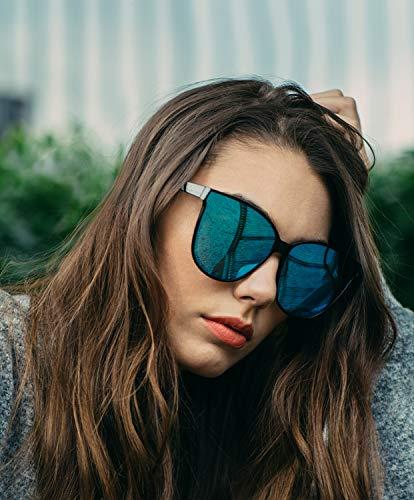 LVIOE Occhiali da sole Polarizzati da Donna Ideali per Guidare Montatura Confortevole con Protezione UV400