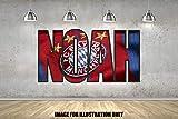 Bayern Fußball Personalisierte Namen Wandtattoo Kinder Jungen Mädchen Wand Aufkleber Wand Kunst Transfer Aufkleber
