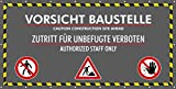 Vorsicht Baustelle :: Bauzaunbanner :: MESH :: 340x173cm :: ISO7010