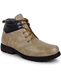 Buwch Mens Synthetic Leather Boot For Men & Boys | Casual Boot | Ankle Length Boot | Tan Color Boot
