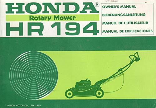 Honda Rotary Mower HR 194 Bedienungsanleitung - Honda Rotary