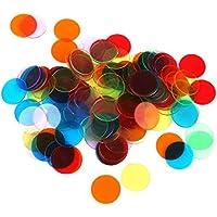 TOOGOO 120 Piezas Chips Fichas Marcadores para Juego de Bingo 6 Colores 3cm