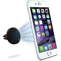Minisuit Mini impugnatura Magnete Supporto auto per bocchetta di aerazione per iPhone, Galaxy, HTC, Motorola, Nokia, Sony