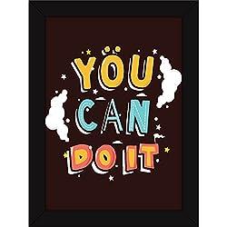 Poster - Fatmug Motivational Inspirational Positive Attitude - You Can Do It - FRAMED