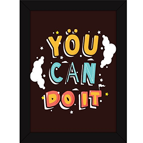 Poster - Fatmug Motivational Inspirational Positive Attitude - You Can Do It - FRAMED