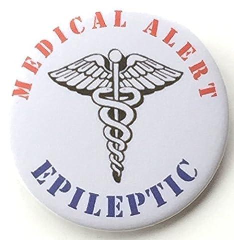 Epileptiker Medical Alert 59mm Anstecknadel Button