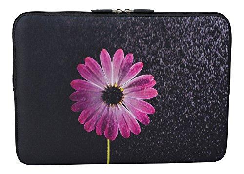 MySleeveDesign Laptoptasche Notebooktasche Sleeve für 10,2 Zoll / 11,6-12,1 Zoll / 13,3 Zoll / 14 Zoll / 15,6 Zoll / 17,3 Zoll - Neopren Schutzhülle mit VERSCH. DESIGNS - Flower Purple [11-12]