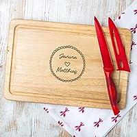 Personalisiertes Schneidebrett mit Paar Gravur, Valentinstag Geschenk für sie, zum Valentinstag, Holz oder Schiefer verfügbar