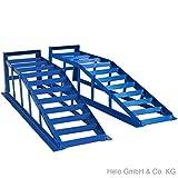 265 blaue Auffahrrampen 2 Stück je 2000 kg extra breit PKW Rampe bis 265er Räder