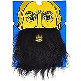 Black Long Beard and Moustache