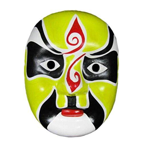 Alien Storehouse 2PCS Pekinger Opernmaske, Chinesische Opernmaske, Kostümmaske, Gesichtsmaske, Cosplay, #V