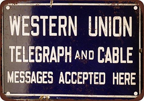 western-union-telegrafo-y-cable-look-vintage-reproduccion-metal-tin-sign-7-x-10-pulgadas