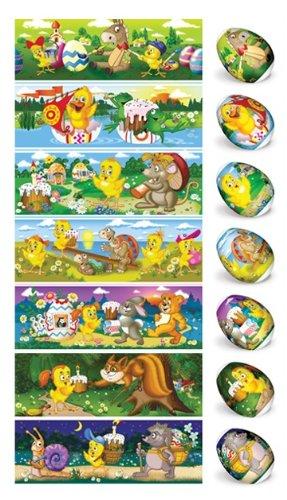 ukrainisches-kunsthandwerk Eierfarbe. Ostereier Schrumpffolie. Tiere in Wald bemalen Ostereier, Nr.20 reicht für 7 Eier (Kochen Für Ostern Die Eier Sie)