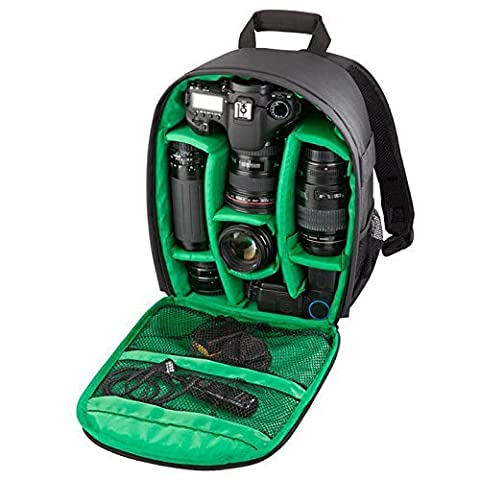 fbshop (TM) Muti-function Sac à dos pour appareil photo DSLR SLR Sac pour Appareil photo vidéo étui sac à dos Insert imperméable sac rembourré pour appareil photo DSLR SLR Canon 600D 60D 7D 5D 40D, Nikon D80/D90/D700/D51007000et plus