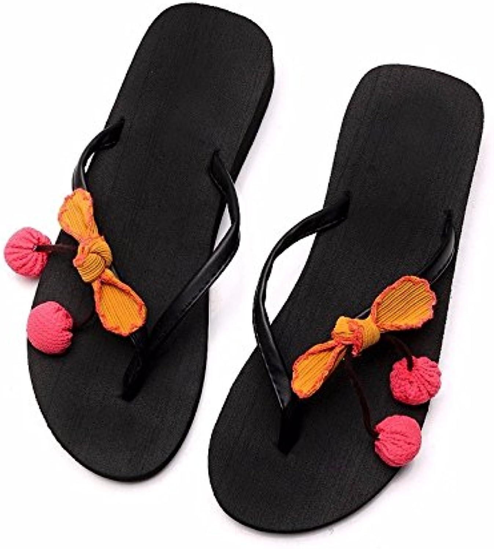 La nueva Seaside bello rutschigen Flip Flops con sandalias y espesor de suelo playa zapatillas., UE35, de color...