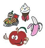 Happy Ice Cream - Chaleco para motociclista, diseño de dibujos animados de frutas, para coser y planchar