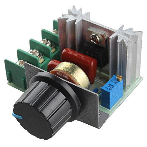 haljia 220V 2000W Motor Speed Controller SCR Spannungsregler Dimmen Dimmer Thermostat (Ac Speed Motor Controller)