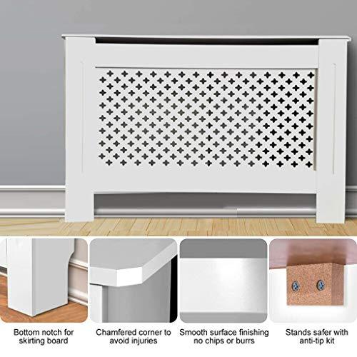 Yiyai Mordern Cache-radiateur en MDF pour Armoire Murale en Bois de qualité supérieure, Petite, Moyenne, Grande, Blanc, Taille M