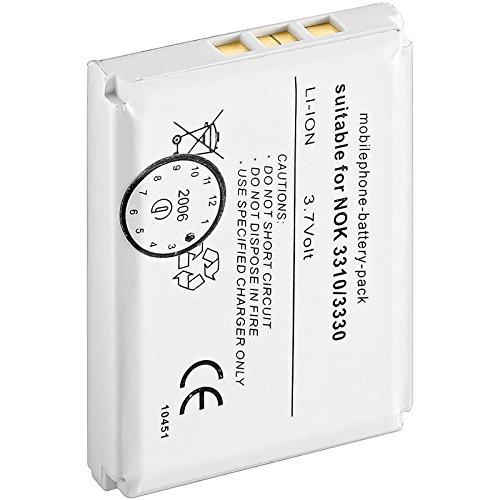 wentronic 43331batteria ricaricabile-batteria/batteria ricaricabile (agli ioni di litio, 1300mah, navigatore/computadora cellulare a mano/telefono cellulare, 3,7v, colore: bianco, blc-2, bmc-3)