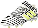 adidas Nemeziz 17.3 FG, Chaussures de Football Entrainement Mixte Enfant, Blanc (Footwear White/Solar Yellow/Core Black), 35.5 EU
