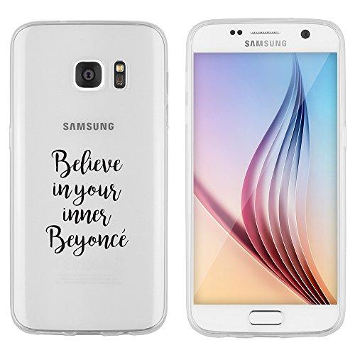 """licaso Samsung Galaxy S7 Hülle TPU schützt Dein S7 5,1\"""" Beyoncè Pop Musik Schutz-Hülle transparent klare Schutzhülle Tasche Silikon Style (Samsung Galaxy S7, Beyoncè)"""