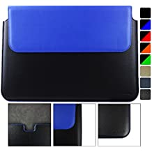 Emartbuy ASUS ZenBook UX303 13.3 Pulgada Laptop Negro / Azul PU Cuero Magnético Carcasa Wallet Case Cover Cubrir Sleeve ( 13.3 to 14 Pulgada )