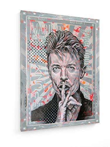 Diedel Heidemann - 80er Jahre Ikonen - Mr. Bowie - 60x80 cm - Leinwandbild auf Keilrahmen - Wand-Bild - Kunst, Gemälde, Foto, Bild auf Leinwand - Street Art