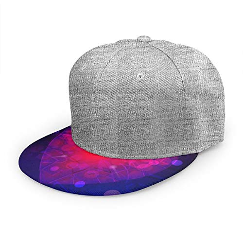 Wfispiy Gorra Plana Resumen Corazón púrpura y Rojo Gorra de béisbol Ajustable Sombrero de papá de bajo Perfil