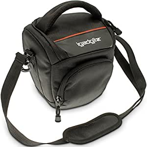 iGadgitz U4083 Support Noir étui et housse d'appareils photo - étuis et housses d'appareils photo (Support, Nikon, Film 35mm SLR (manual focus) EL2 EM, F F2 F3 series, F-301 F-601M, FA FE FE10 FE2 FG FG-20, FM..., Sangle épaule, Noir)