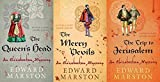 Edward Marston 3 Book set (Books 1, 2 & 3 from Nicholas Bracewell Series) The Queen's Head, The Merry Devils & The Trip to Jerusalem (SET 4)