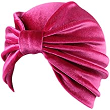 Fascigirl Mujer Turbante Lujo Turbante Diadema Pelo Elástico Abrigo Turbante Sombrero