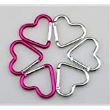 Imported And New Akira 44 * 40 * 4.4 Mm Creative Cute 10PC Heart Shape Carabiner