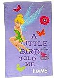 Unbekannt Badetuch -  Disney Tinkerbell / Fairies  - incl. Name - 70 cm * 120 cm Handtuch Strandtuch - 100 % Baumwolle - Fairy Feen - Kinder - für Mädchen 70x120 - EL..