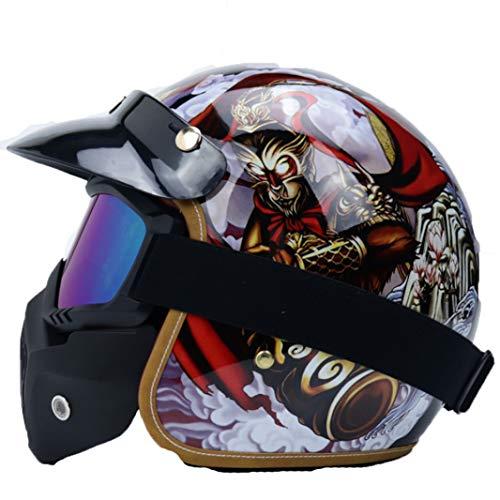 Männer Frauen Motocross Helme Mountain Road Motorrad Helm Abs Material Racing Off Road Motorrad Vollgesichtsschutz Schutzkappen - Helm Mohawk Fahrrad