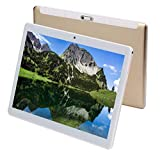 Tablette Tactile Ecran 10.1 Pouces 4G WiFi Android Doule SIM Double Caméras 2GB+16GB,Blanc TEENO (Or)