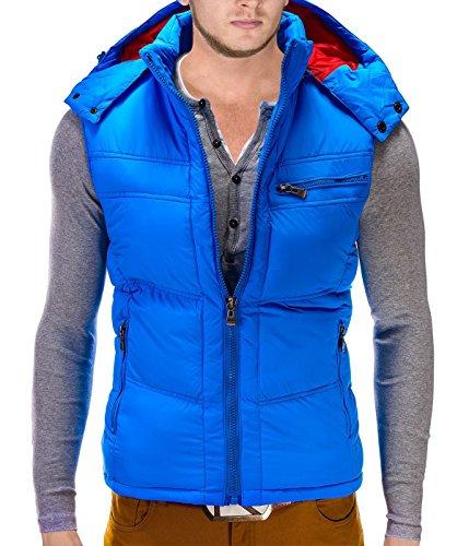 Betters tylz Nelson Uomo Giacca Invernale Giacca Con Cappuccio (XXL) Multicoloured - Royal Blue XXL