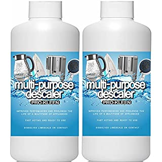 2L of Pro-Kleen Multi-Purpose Descaler - Fast-Acting Concentrate & Dissolves Limescale on Contact! - Optimises Performance & Prolongs Life of Coffee Machines, Kettles, Irons, Showerheads, Taps and More!