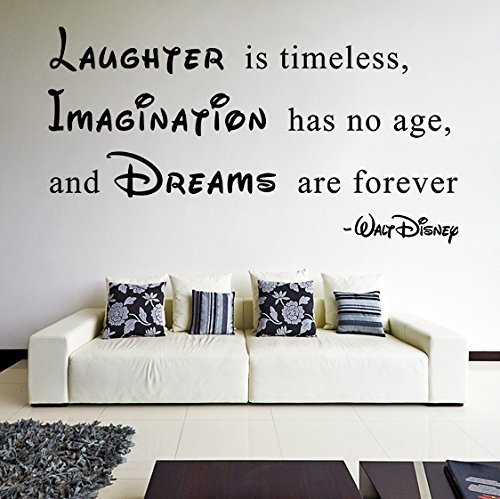 200x-108cm-en-vinyle-Sticker-mural-en-vinyle-texte-rire-est-intemporel-lImagination-est-sans-age-Dreams-Are-ForeverWalt-Disney-Sticker-Citation-sans-en-cadeau