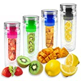 Puregadgets© Blue Fruit Infusing Water Bottle Infuse Infuser Hydration Aqua Sports Gym Healthy