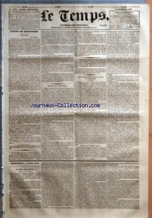 TEMPS (LE) [No 1109] du 31/10/1832 - BULLETIN - 30 OCTOBRE - PROCES DES VINGT-DEUX - DES LEGISLATIONS MUNICIPALES - DE L'ALLEMAGNE - (1ER ARTICLE) - ALLEMAGNE DU NORD - PRUSSE - FEUILLETON - 31 OCT 1832 - ACADEMIE DES SCIENCES - SEANCE DU 29 OCTOBRE - ACADEMIE DES SCIENCES MORALES ET POLITIQUE - MECANIQUE - BOTANIQUE - MATIERE MEDICALE - BOTANIQUE AGRICOLE - NAVIGATION - ASTRONOMIE - ELECTION DE M. DOUBLE - ECONOMIE POLITIQUE - CHIMIE INDUSTRIELLE ELECTRO-M par Collectif