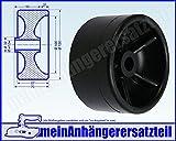 Gummi Sliprolle Spannrolle Sliprollen 120x70mm 17mm Bohrloch für Bootsanhänger