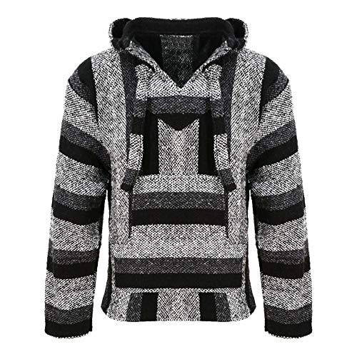 Chaqueta con capucha, tonos grises, hippie, parte superior gris gris L